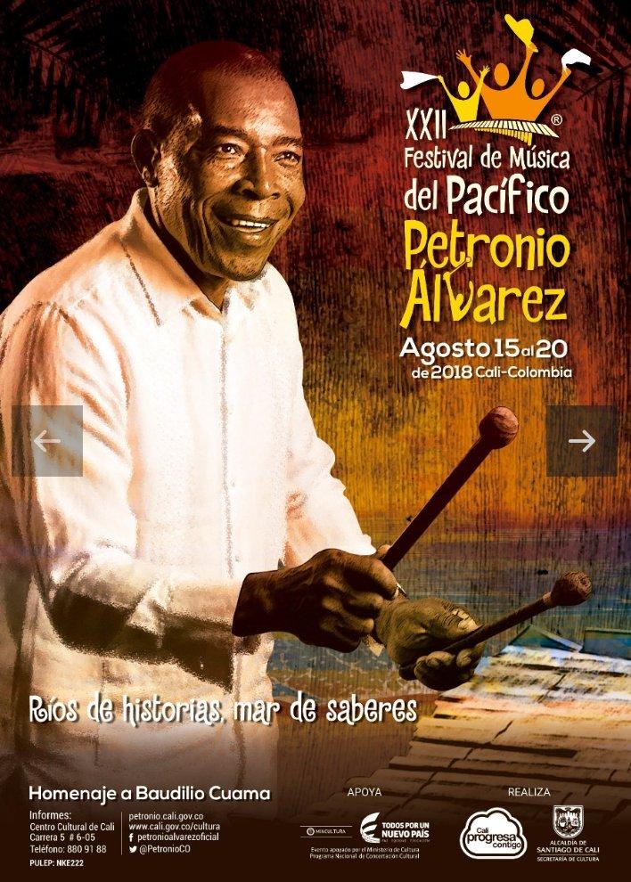 El maestro Baudilio Cuama será el gran homenajeado en la versión XXII del Festival de Música del Pacífico `Petronio Álvarez´